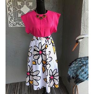Lane Bryant flower skirt